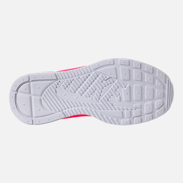 Bottom view of Girls' Grade School Nike Ashin Modern SE Casual Shoes in White/Racer Pink/Rush Pink