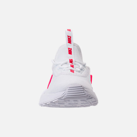 Front view of Girls' Preschool Nike Ashin Modern SE Casual Shoes in White/Racer Pink/Rush Pink