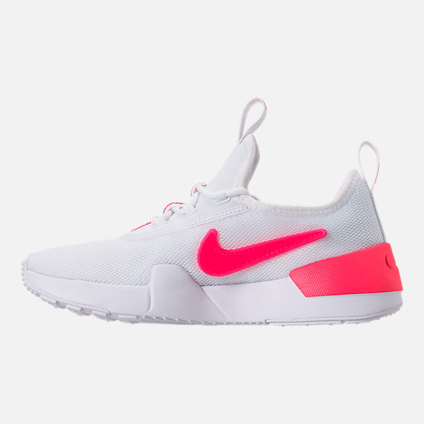 Left view of Girls' Preschool Nike Ashin Modern SE Casual Shoes in White/Racer Pink/Rush Pink
