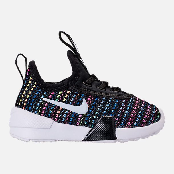 Right view of Girls' Toddler Nike Ashin Modern SE Casual Shoes in Black/White/Racer Pink/Racer Blue