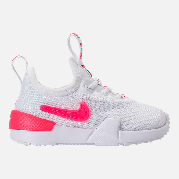 Right view of Girls' Toddler Nike Ashin Modern SE Casual Shoes in White/Racer Pink/Rush Pink