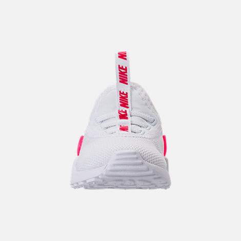 Front view of Girls' Toddler Nike Ashin Modern SE Casual Shoes in White/Racer Pink/Rush Pink