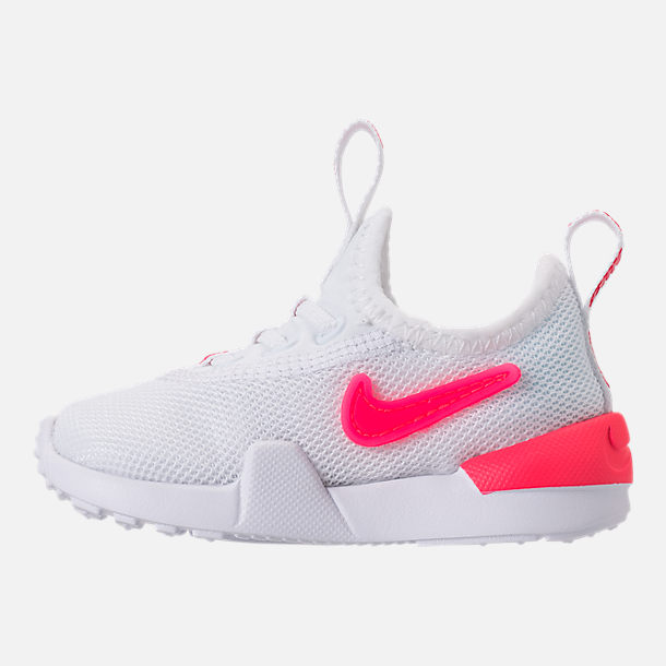 Left view of Girls' Toddler Nike Ashin Modern SE Casual Shoes in White/Racer Pink/Rush Pink