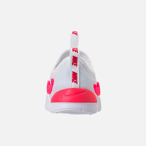 Back view of Girls' Toddler Nike Ashin Modern SE Casual Shoes in White/Racer Pink/Rush Pink