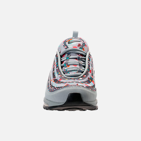 Front view of Women's Nike Air Max 97 Ultra 2017 Premium Casual Shoes in Light Pumice/Anthracite/Fiberglass