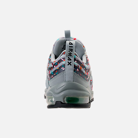 Back view of Women's Nike Air Max 97 Ultra 2017 Premium Casual Shoes in Light Pumice/Anthracite/Fiberglass