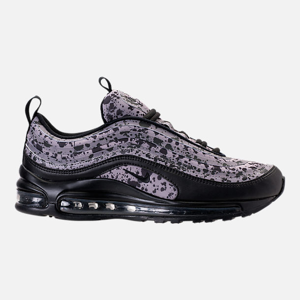 Right view of Women's Nike Air Max 97 Ultra 2017 Premium Casual Shoes in Black/Black/Vast Grey