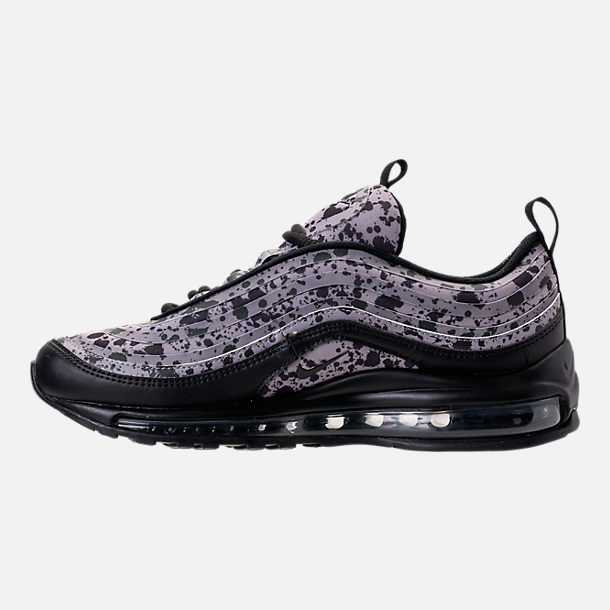 Left view of Women's Nike Air Max 97 Ultra 2017 Premium Casual Shoes in Black/Black/Vast Grey