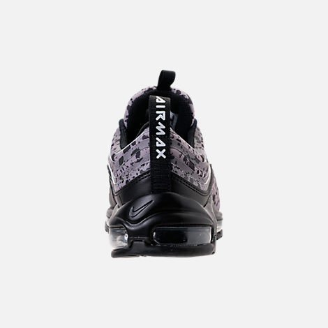Back view of Women's Nike Air Max 97 Ultra 2017 Premium Casual Shoes in Black/Black/Vast Grey