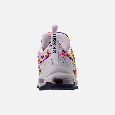 Back view of Women's Nike Air Max 97 Ultra 2017 Premium Casual Shoes in Vast Grey/Obsidian/Elemental Rose