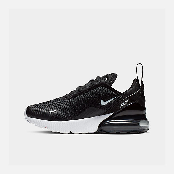 Right view of Kids' Preschool Nike Air Max 270 Casual Shoes in Black/White
