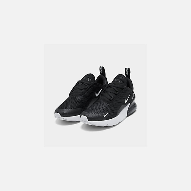 c429267f56 Three Quarter view of Little Kids' Nike Air Max 270 Casual Shoes in Black/