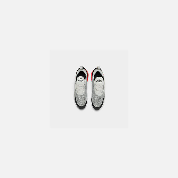 Back view of Little Kids' Nike Air Max 270 Casual Shoes in Light Bone/Black/White/Hot Punch