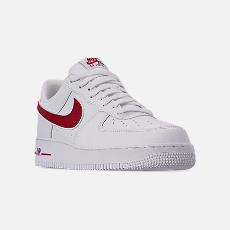 46ab3bd2 Three Quarter view of Men's Nike Air Force 1 '07 3 Casual Shoes in White