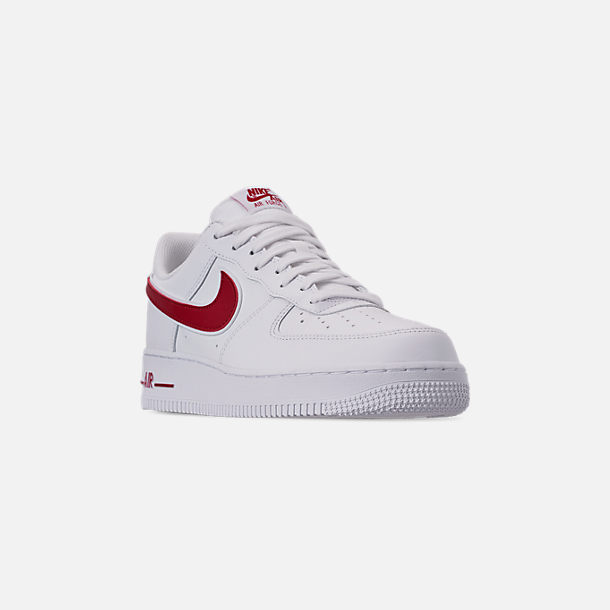 sale retailer 67a24 4fde4 Three Quarter view of Men s Nike Air Force 1  07 3 Casual Shoes in White