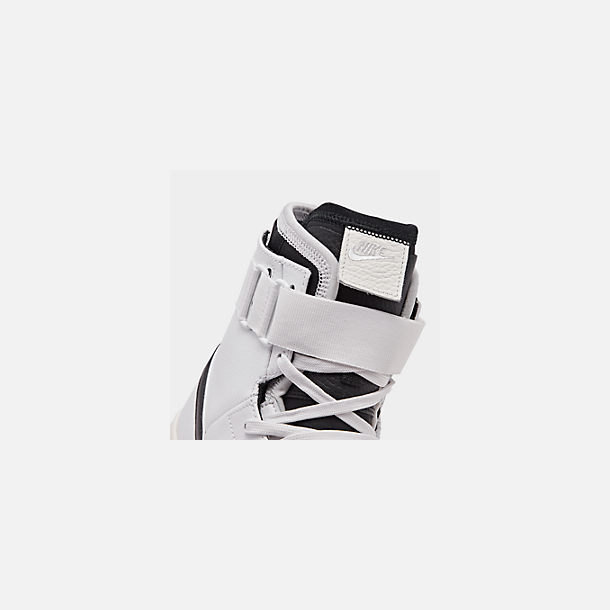 Front view of Men's Nike Double Court Casual Shoes in Summit White/Black/Sail