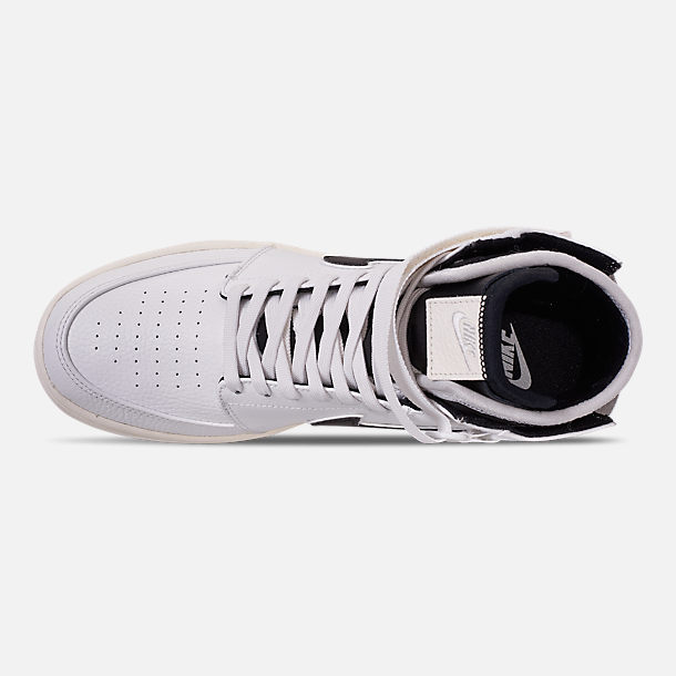Top view of Men's Nike Double Court Casual Shoes in Summit White/Black/Sail