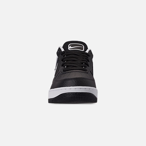 Front view of Men's Nike Air Force 1 '07 LV8 1 Casual Shoes in Black/White