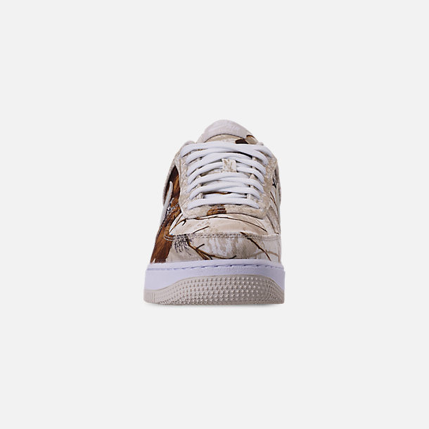 Front view of Men's Nike Air Force 1 '07 LV8 3 Casual Shoes in White/Light Bone