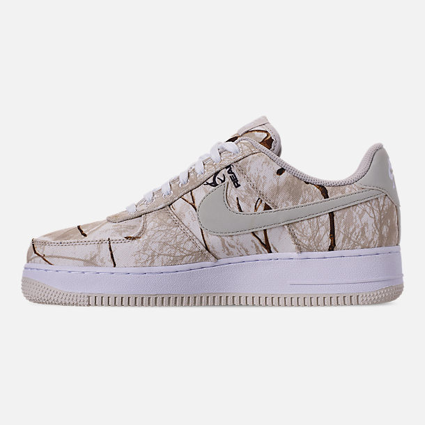 Left view of Men's Nike Air Force 1 '07 LV8 3 Casual Shoes in White/Light Bone