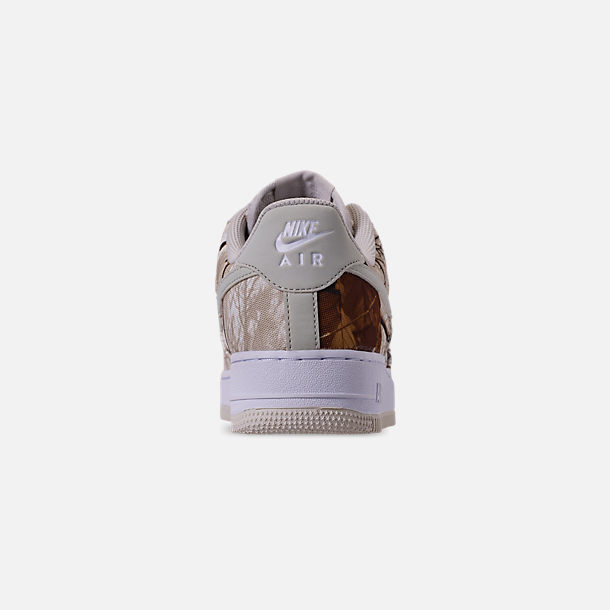 Back view of Men's Nike Air Force 1 '07 LV8 3 Casual Shoes in White/Light Bone