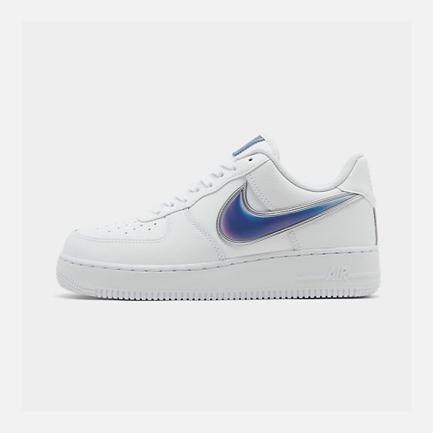 Right view of Men's Nike Air Force 1 '07 LV8 3 Casual Shoes in White/Racer Blue