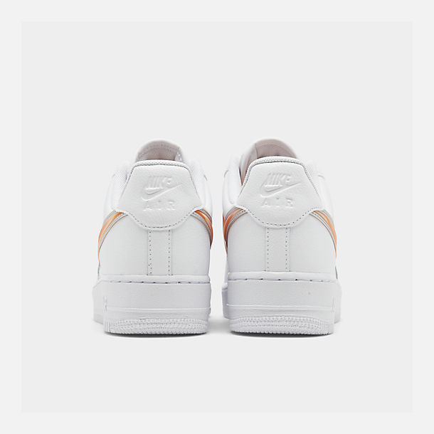 Left view of Men's Nike Air Force 1 '07 LV8 3 Casual Shoes in White/Orange Peel