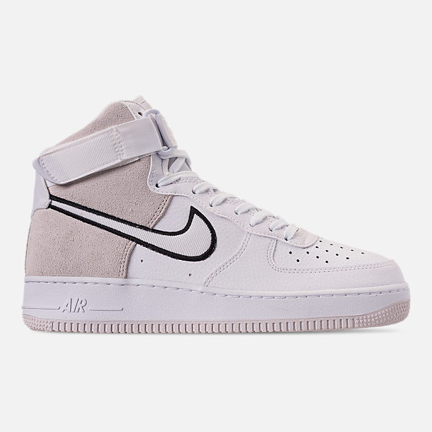 Right view of Men's Nike Air Force 1 High '07 LV8 1 Casual Shoes in White/Vast Grey/Black