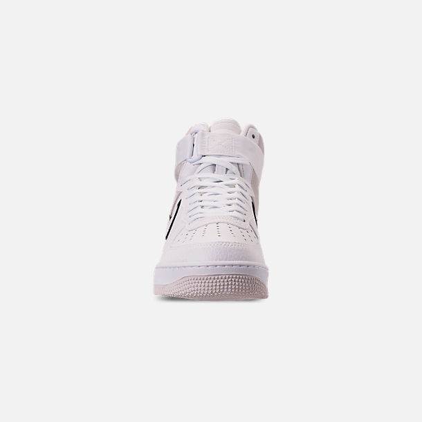 Front view of Men's Nike Air Force 1 High '07 LV8 1 Casual Shoes in White/Vast Grey/Black
