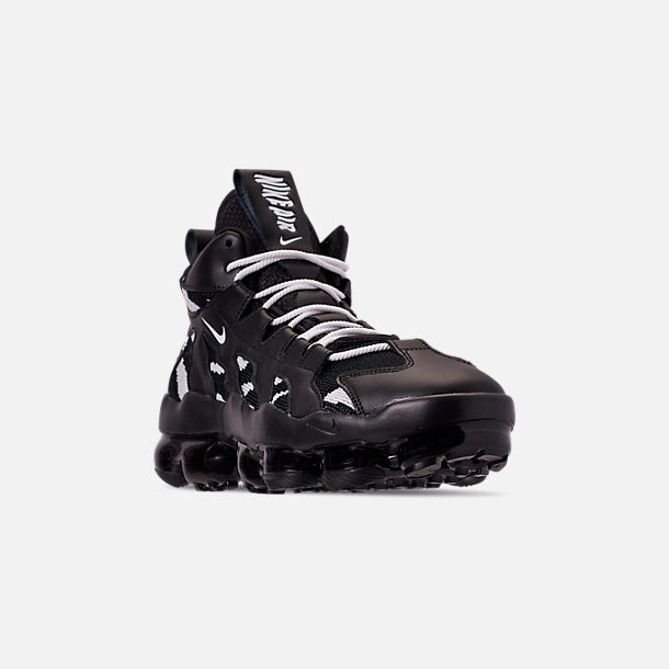 Three Quarter view of Men's Nike Air VaporMax Gliese Casual Shoes in Black/White