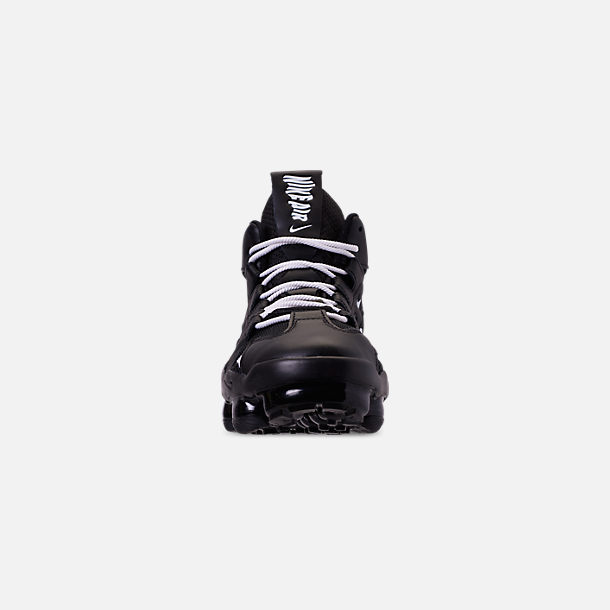 Front view of Men's Nike Air VaporMax Gliese Casual Shoes in Black/White