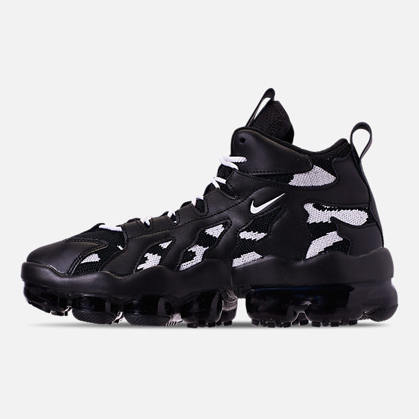 Left view of Men's Nike Air VaporMax Gliese Casual Shoes in Black/White