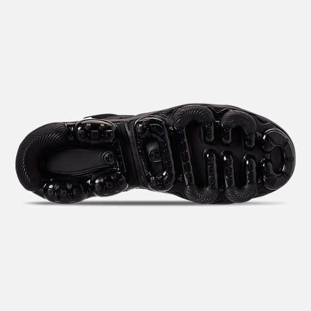 Bottom view of Men's Nike Air VaporMax Gliese Casual Shoes in Black/White