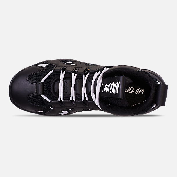 Top view of Men's Nike Air VaporMax Gliese Casual Shoes in Black/White