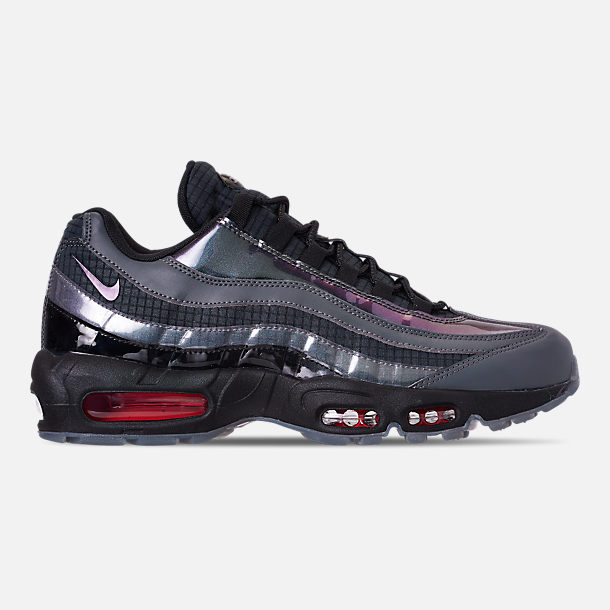Right view of Men's Nike Air Max 95 LV8 Casual Shoes in Black/Ember Glow/Dark Grey