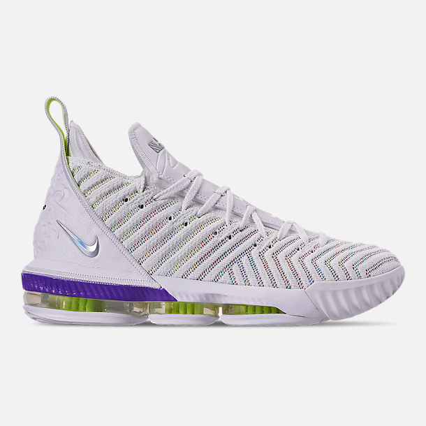 e431c4b66458 Right view of Men s Nike LeBron 16 Basketball Shoes in White Multi-Color