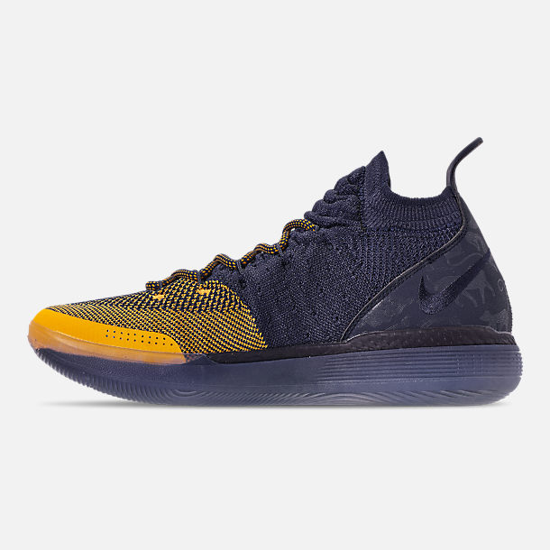 6b10faa6b33f Left view of Men s Nike Zoom KD11 Basketball Shoes in College  Navy University Gold