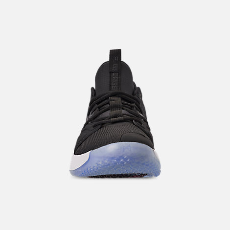 Front view of Men s Nike PG 3 Basketball Shoes in Black Black White  4eeb4338e5