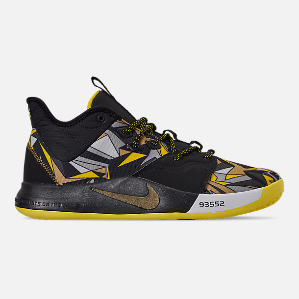 1c90ae41d041 Right view of Men s Nike PG 3 Basketball Shoes in Multi-Color Opti Yellow