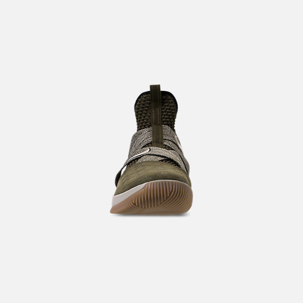 2fc81c69d1f Front view of Men s Nike LeBron Soldier 12 Basketball Shoes in Olive  Canvas String