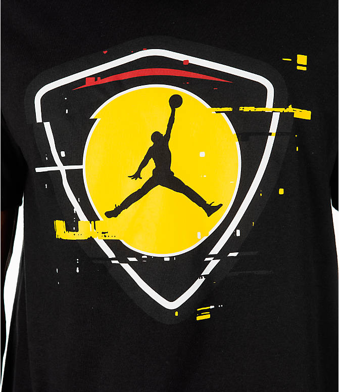 Detail 1 view of Men's Jordan Sportswear AJ14 Last Shot T-Shirt in Black/Gold