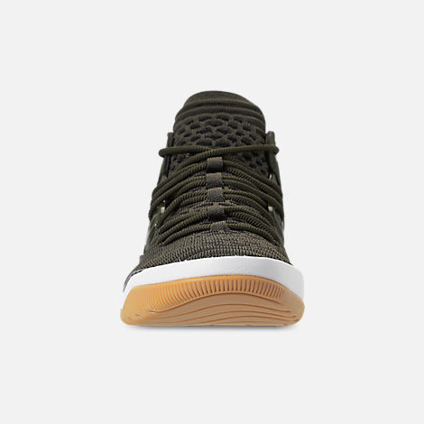 Front view of Boys' Big Kids' Air Jordan DNA LX Basketball Shoes in Cargo Khaki/Sail