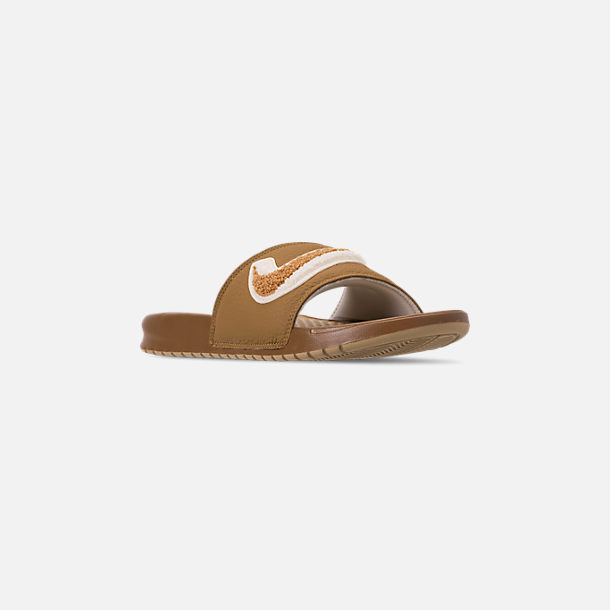 Three Quarter view of Men's Nike Benassi JDI Chenille Slide Sandals