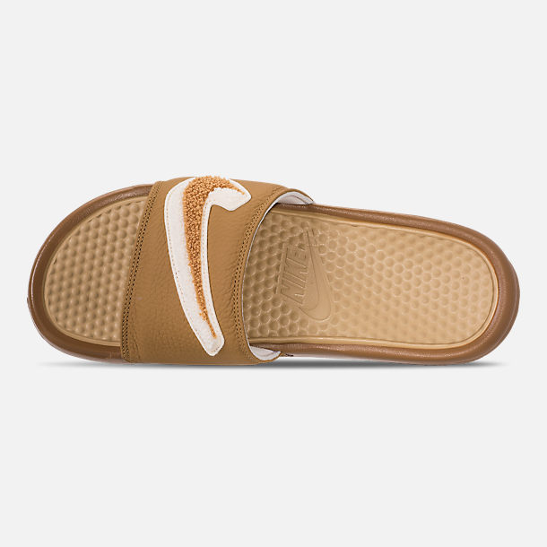 Top view of Men's Nike Benassi JDI Chenille Slide Sandals