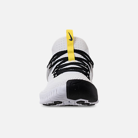 Front view of Men's Nike Metcon Free X Training Shoes in White/Black/Dynamic Yellow