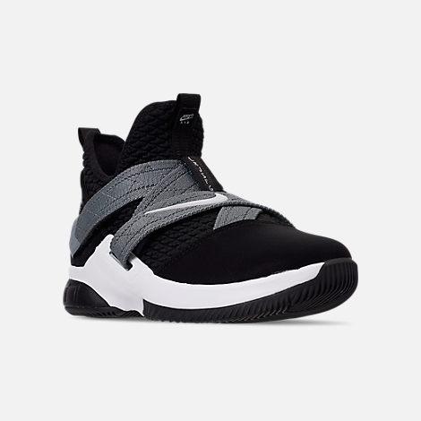 690deab94a5e3 Three Quarter view of Boys' Big Kids' Nike LeBron Soldier 12 SFG Basketball  Shoes