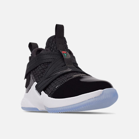 Three Quarter view of Boys' Preschool Nike LeBron Soldier 12 SFG Basketball Shoes