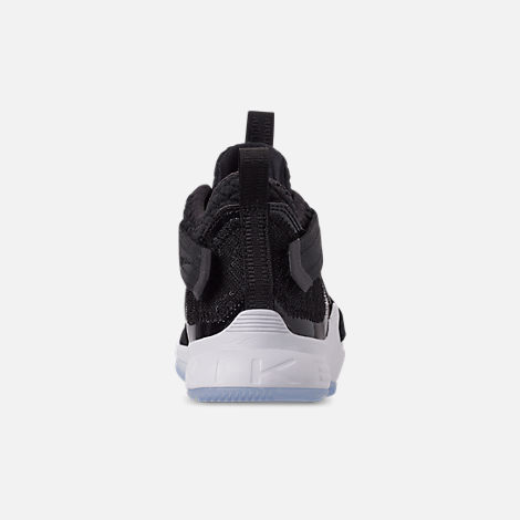 Back view of Boys' Preschool Nike LeBron Soldier 12 SFG Basketball Shoes