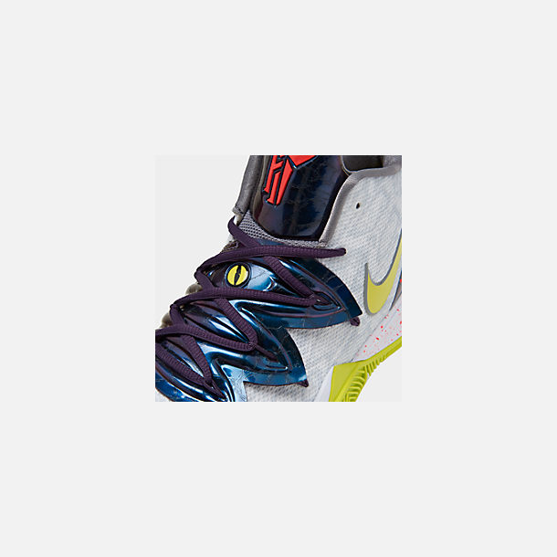 16ec9210d791 Front view of Men s Nike Kyrie 5 Basketball Shoes in White Cyber