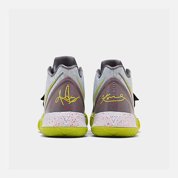 super popular f766c 71b15 Left view of Men s Nike Kyrie 5 Basketball Shoes in White Cyber
